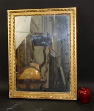 French Louis XVI style gold leaf mirror