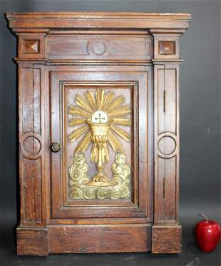 Antique French altar door with monstrance