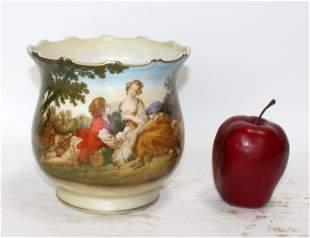Antique French porcelain cachepot