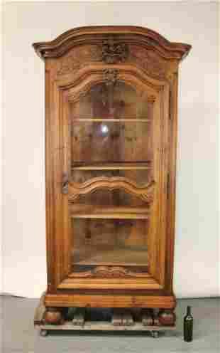 French Lyonnaise bonnetiere cabinet in walnut