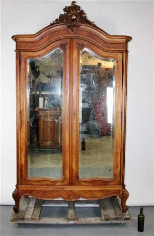 French Louis XV armoire in walnut