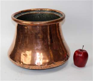 Antique French copper bell pot