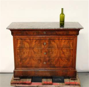 French Louis Philippe commode with marble top
