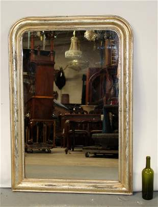 French Louis Philippe silver mirror