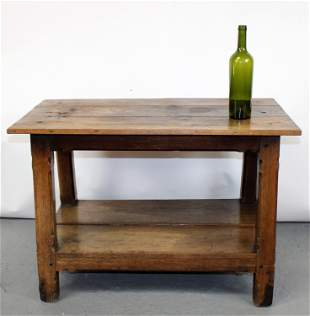 French rustic cocktail table in oak