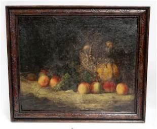 F. G. Feret oil on canvas still life scene