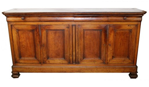 French Louis Philippe 4 door walnut enfilade