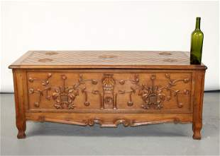French Provinical blanket chest in oak