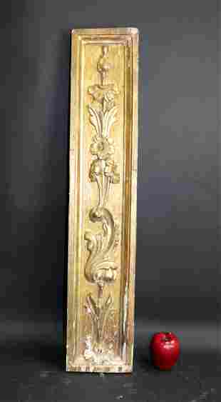 19th century Italian gold leaf carved fragment
