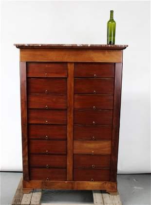 French lockside notary chest in mahogany