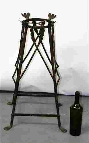 French Art Nouveau wrought iron plant stand