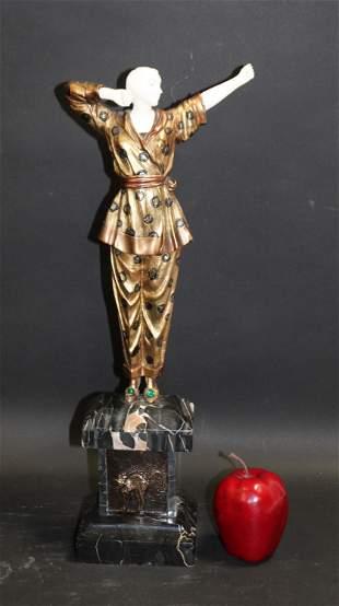 Art deco figural statue after Chiparus