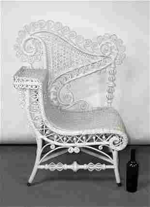 Heywood Wakefield wicker portrait chair