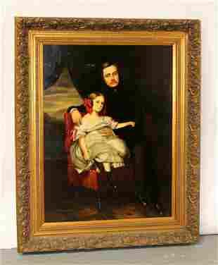 James Colman oil on canvas portrait