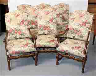 Set of 8 os du mouton dining chairs