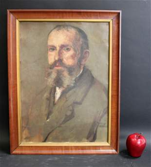 French oil on board portrait of a gentleman