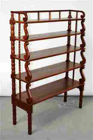 American spindle etagere bookshelf