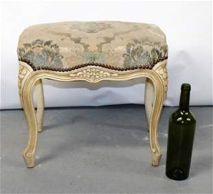 French Louis XV style painted foot stool