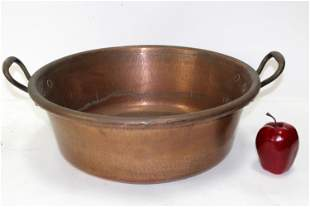 French copper pot with handles