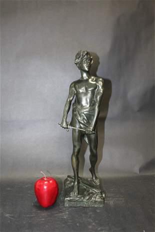 Delattre French bronze figural sculpture Vingt-Ans