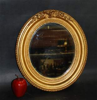 Petit French Louis Philippe oval mirror
