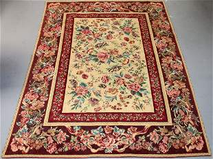 5'7 x 7'10 machine made tapestry style rug