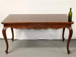 French Louis XV style drawleaf dining table