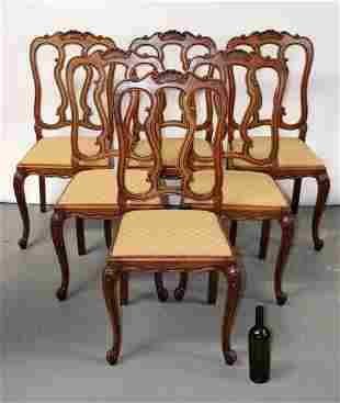 Set of 6 French Provincial style dining chairs