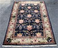 "Oriental wool rug with black border 12' x 18"""