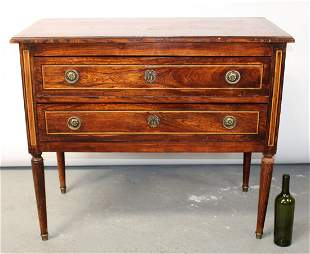 French Louis XVI style 2 drawer commode