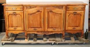 French Louis XV style 4 door sideboard in walnut