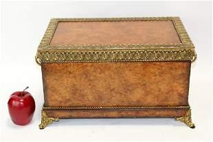Maitland Smith decorative box with bronze trim