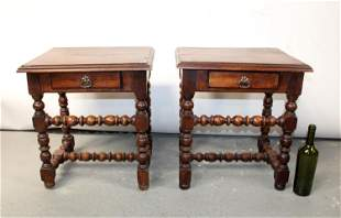 Pair of French Louis XIV style side tables