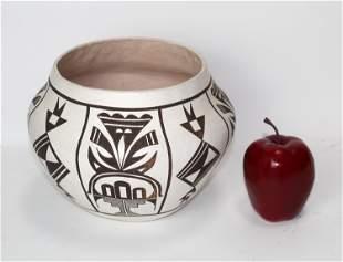 Dolores S Sanchez Acoma pottery bowl