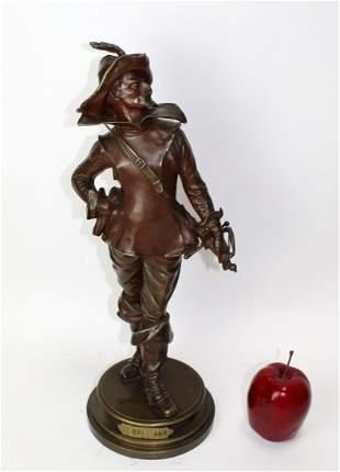 """""""Le Bretteur"""" Bronze cavalier statue after Drouot"""