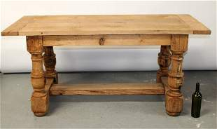 French 19th c bleached oak shop table