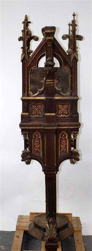 French Gothic Revival altar niche