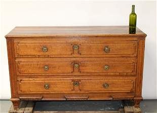 French Directoire 3 drawer commode in oak