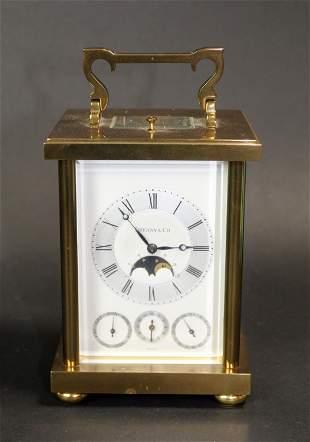 Tiffany & Co calendar moonphase carriage clock
