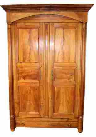 French Directoire 2 door armoire in walnut