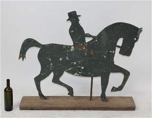 French 19th century iron weathervane with horse