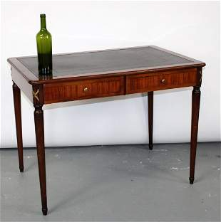 French Directoire desk with tooled leather