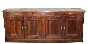 French Louis Philippe 4 door enfilade in walnut