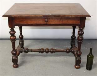 French Louis XIV bureauplat desk in walnut with barley