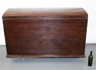 English large scale dome top trunk in mahogany with