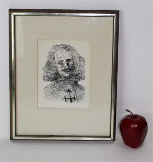 """Salvador Dali """"Velazquez"""" etching"""