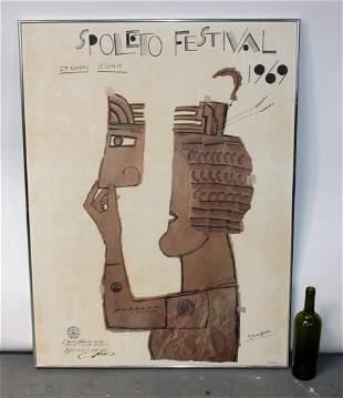Vintage Spoleto Festival 1969 poster