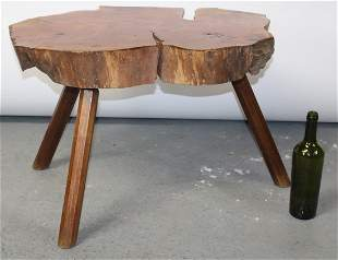 French mid century tree trunk coffee table