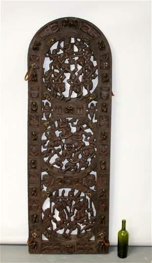 Indonesian relief carved wooden doors