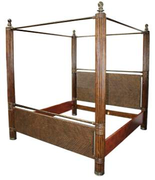 Maitland Smith British Colonial style canopy bed